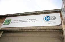 L'appartenance au réseau K2 est clairement exposée au fronton de l'immeuble qui abrite Pôle moteurs industriels.