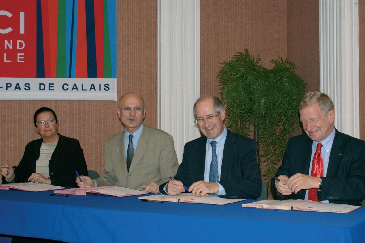 De gauche à droite : Dominique Rembotte, Pierre de Bousquet de Florian, Xavier Ibled et Daniel Pecqueur.