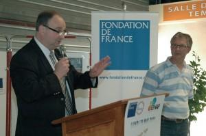 Bruno Decherf à la recherche de partenaires pour créer la première entreprise d'insertion de la région.