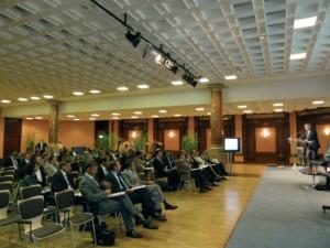 Ouverture de la Convention sur l'interprofessionnalité par le bâtonnier lillois Emmanuel Masson.
