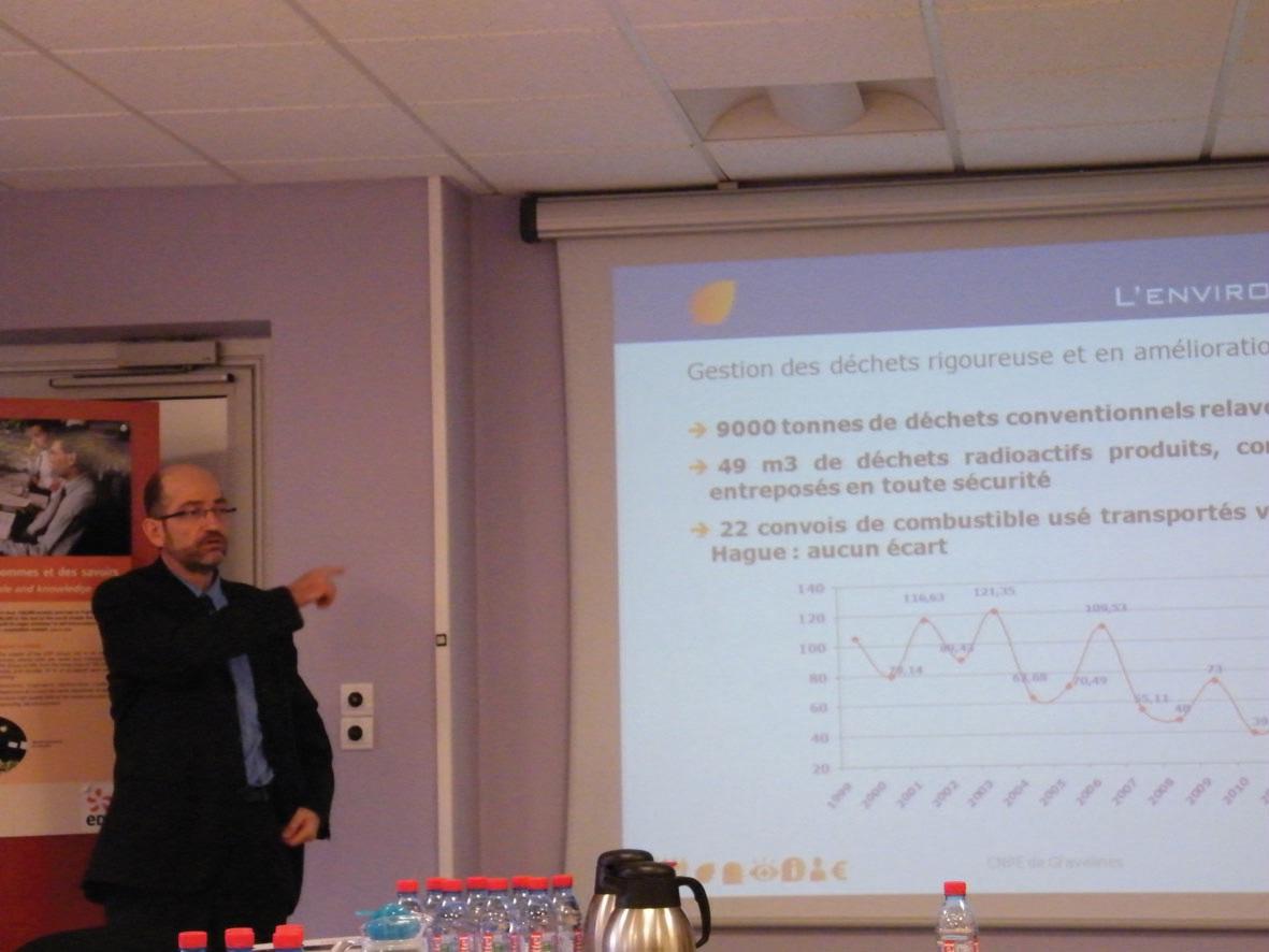 Présentation des résultats annuels de la centrale nucléaire de Gravelines, le 20 janvier dernier.
