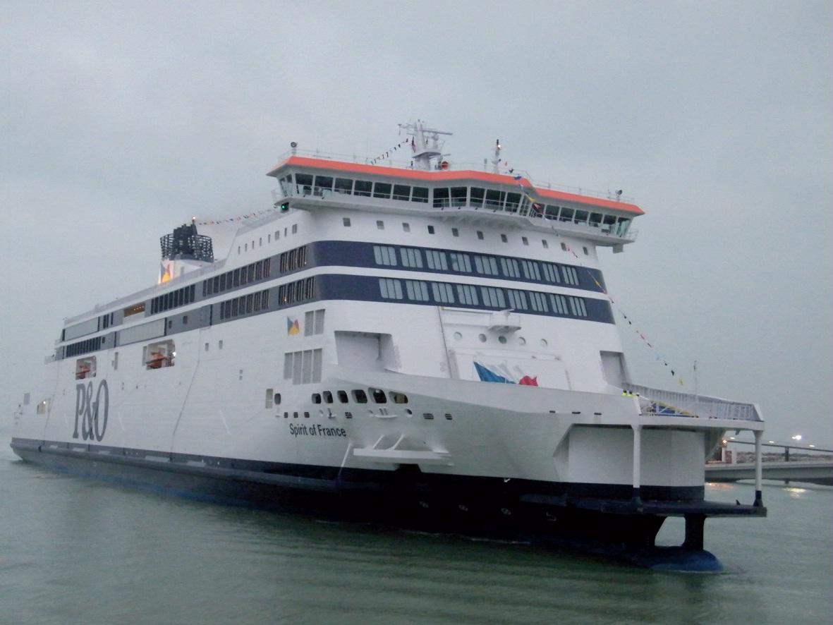 L'arrivée du Spirit of France, au matin du 30 janvier, dans le port de Calais.