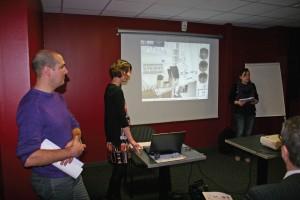 Travaillant sur le design, les étudiants ont présenté leur projet devant les professionnels de la filière.