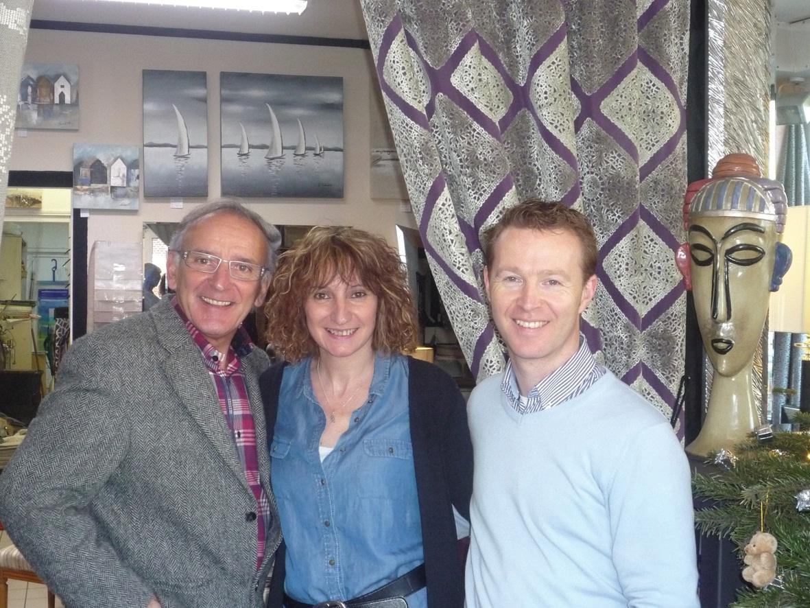 Une même passion unit J.-P. Oleszynski, Annie Blabrick et Thierry Vanveuren.