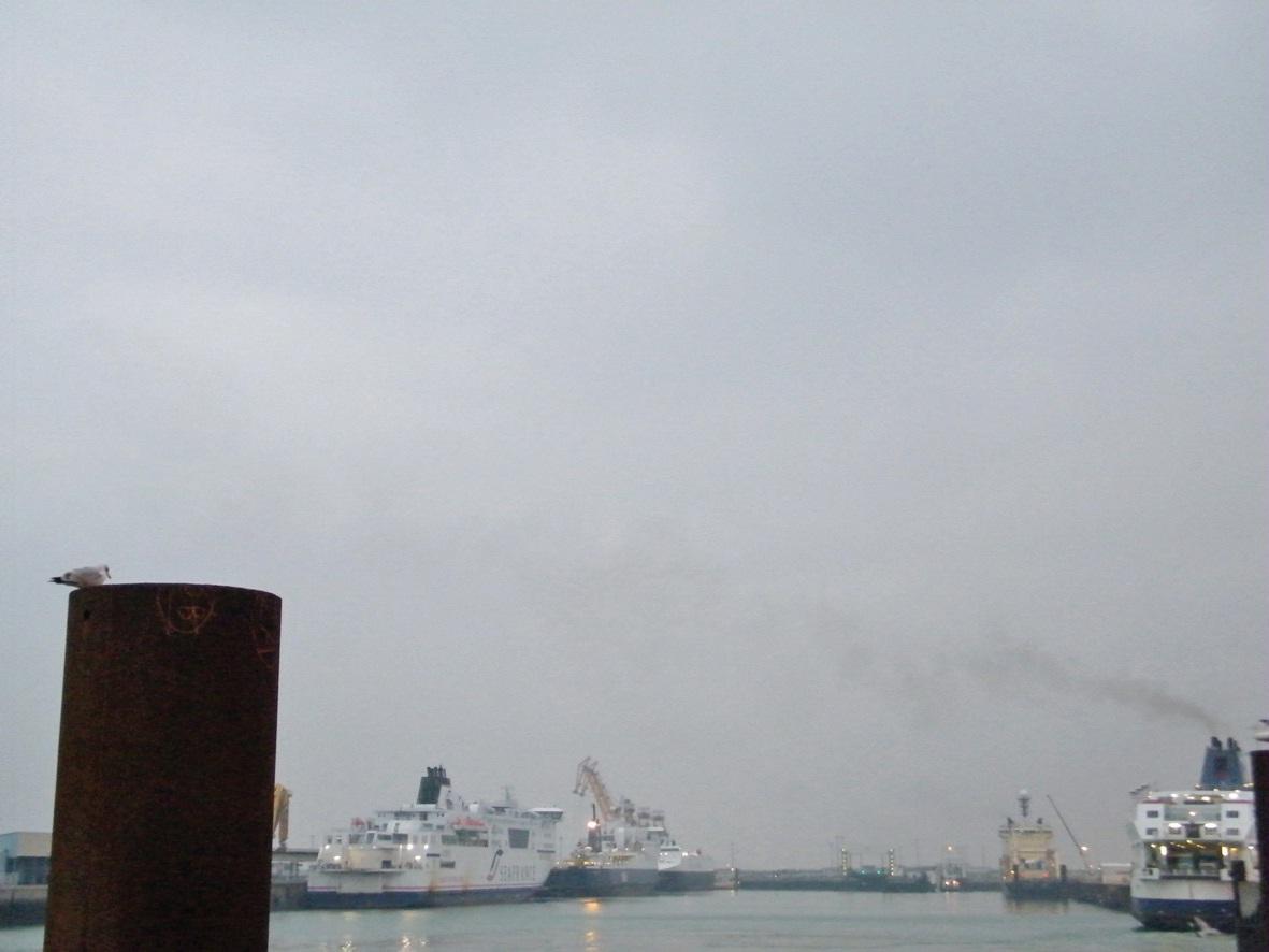 Dans le port de Calais, SeaFrance est toujours à quai.