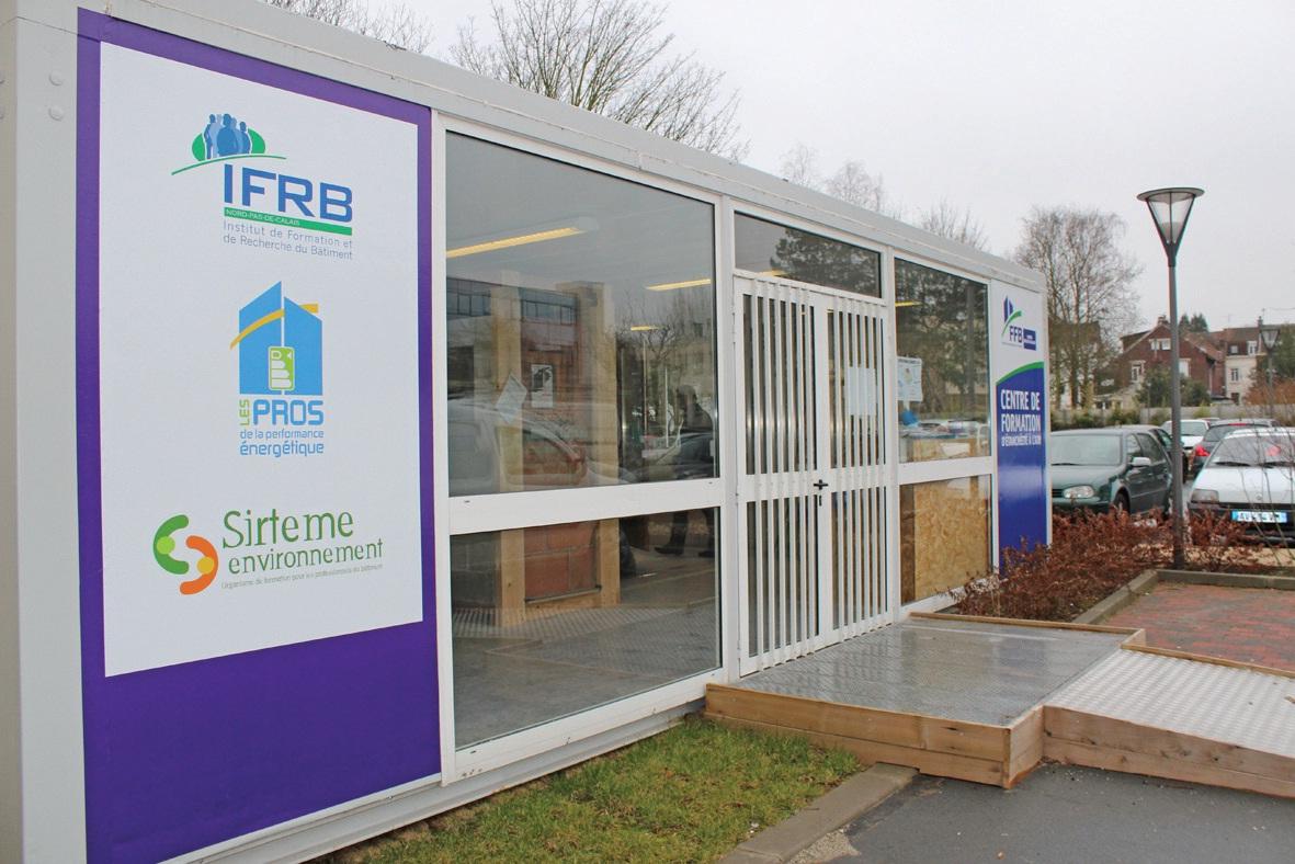 A Marcq-en-Baroeul, la FFB a créé un centre de formation étanchéité de l'air.