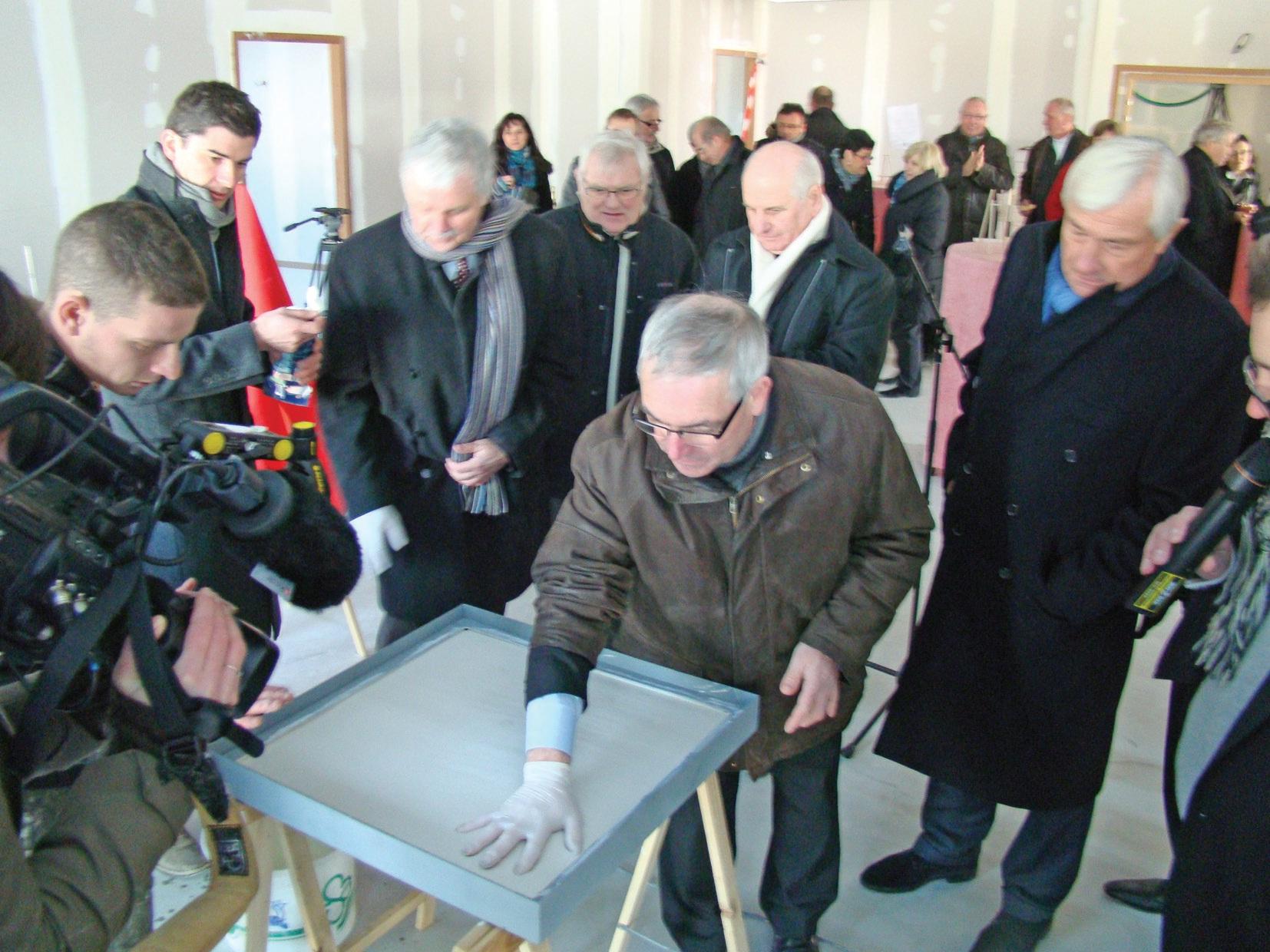 Le 7 février dernier, les partenaires de la crèche interentreprises de la ZAE Socx-Bergues s'étaient donné rendez-vous pour vérifier l'avancement du chantier.