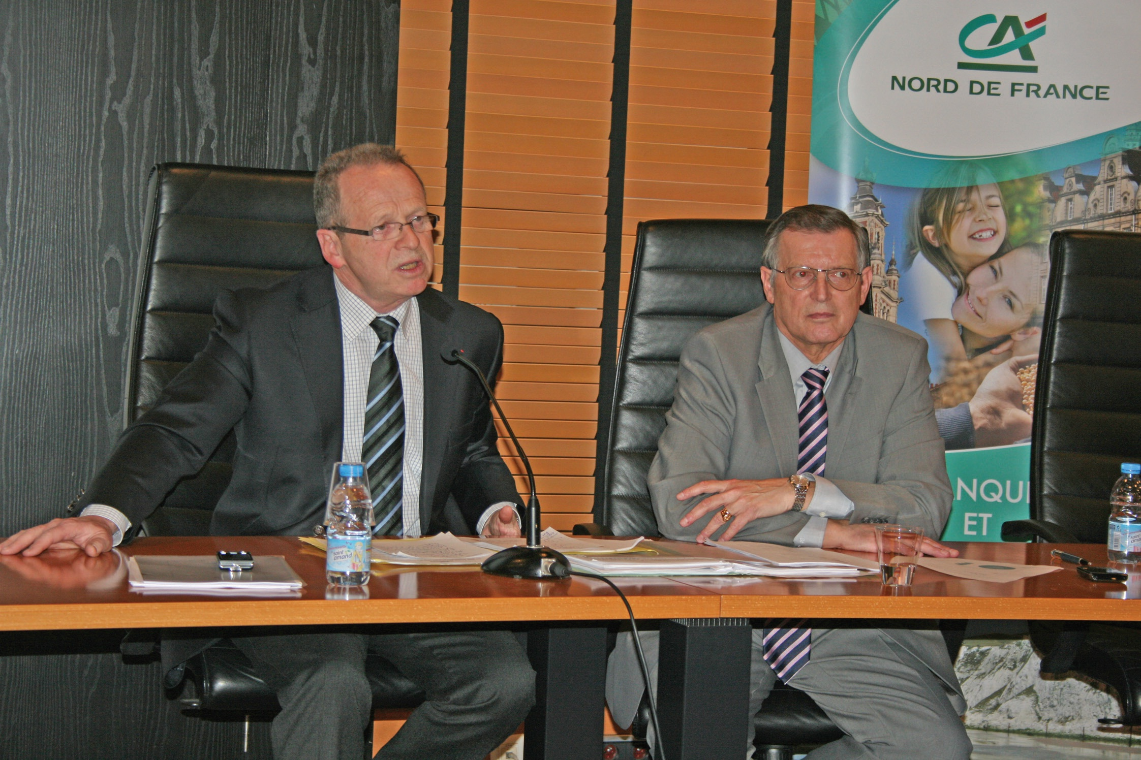 Bernard Pacory, président, et Jacques Durand, directeur général par intérim.