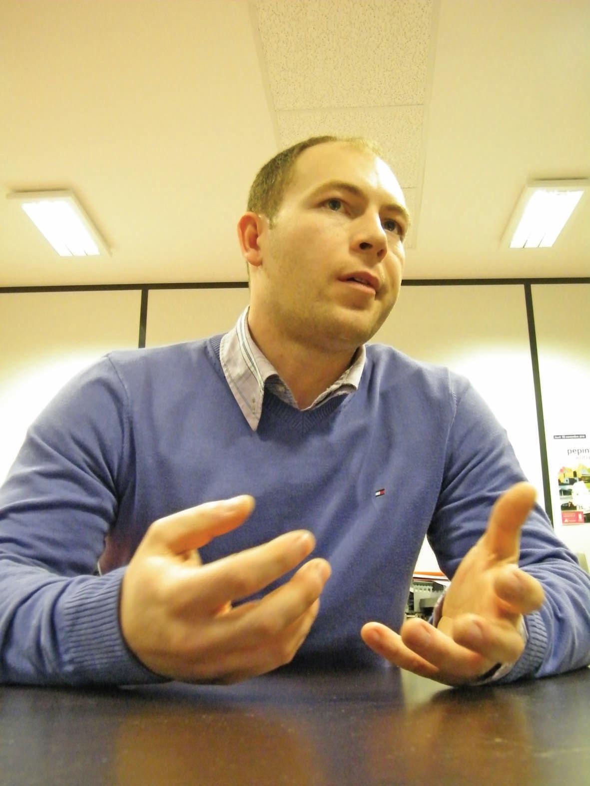 Vincent Logez, cogérant de l'entreprise Opus.