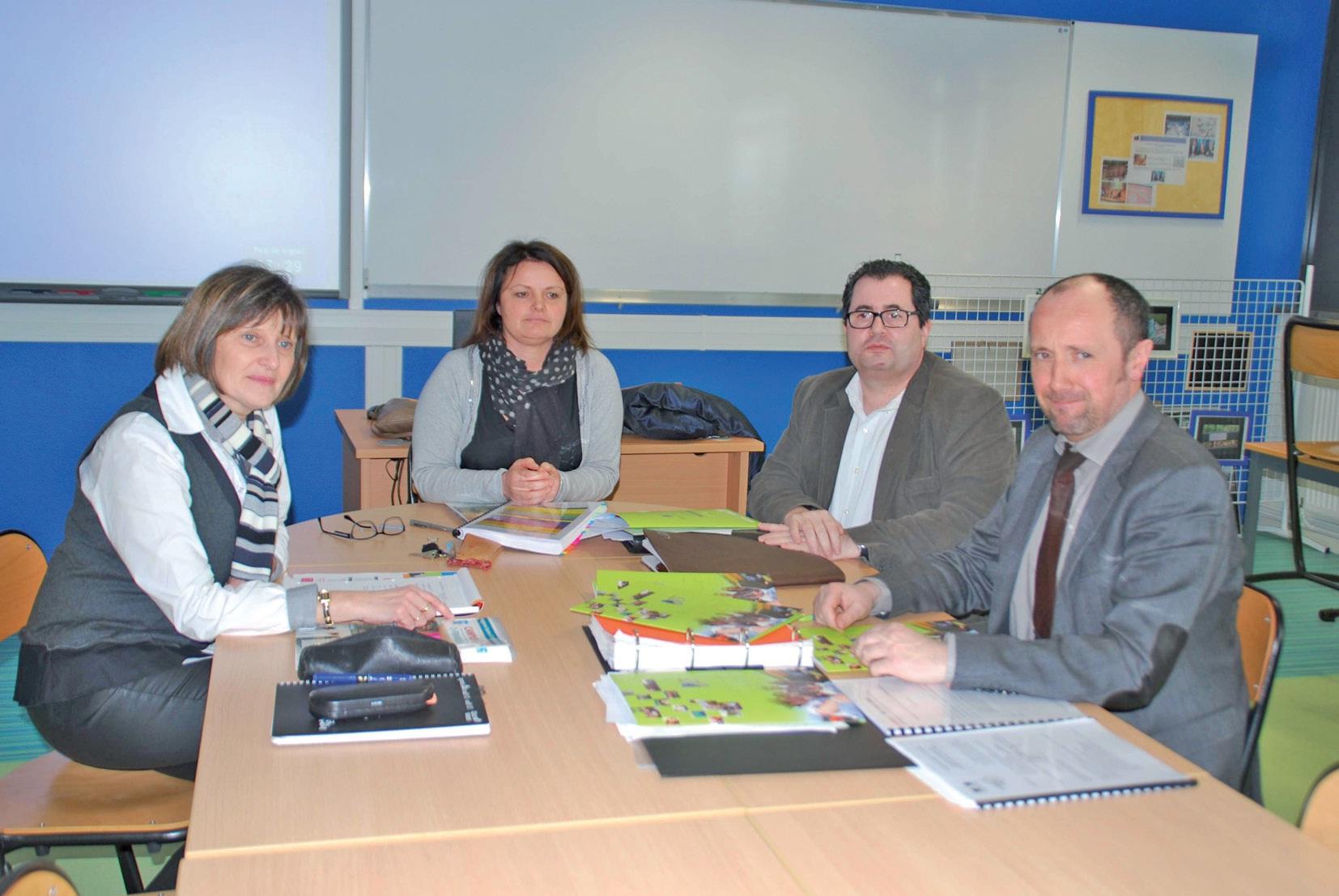 Les responsables de la nouvelle formation : Arlette Lebourg, Sandrine Germe, Antoine Bataille et Philippe Descamps (de gauche à droite).