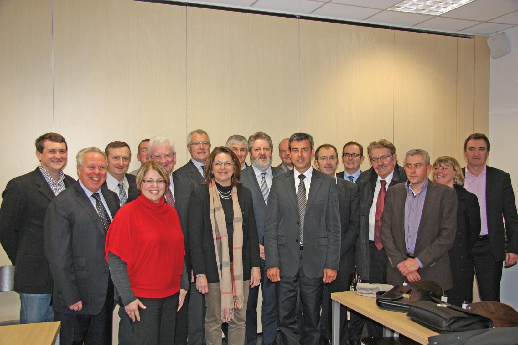 Les membres du conseil d'administration de la Chambre syndicale de la Fnaim 62 à l'issue de la réunion au cours de laquelle ils ont porté à leur tête Alain Potier.
