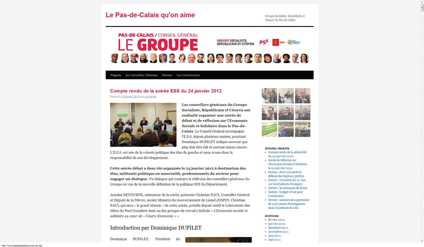 Le compte-rendu complet de cette première soirée dédiée à l'ESS est disponible sur le site internet http://www.lepasdecalaisquonaime.net.