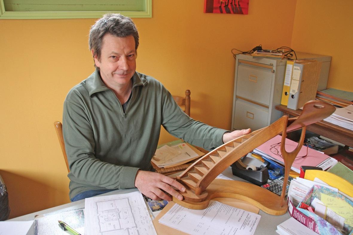 Hugues Le Blanc, un véritable maître dans le travail du bois.
