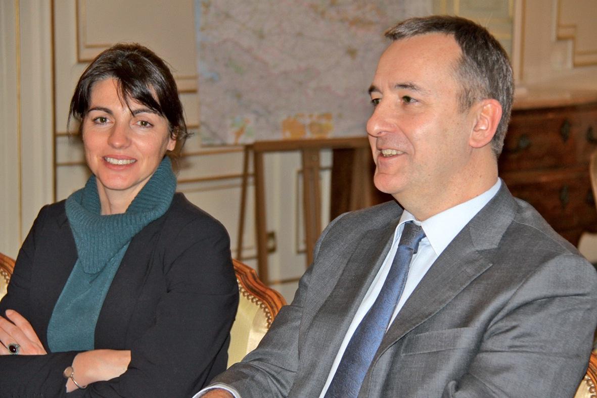 Lors de sa rencontre avec la presse, Denis Robin était accompagné de Catherine Séguin, directrice de cabinet.