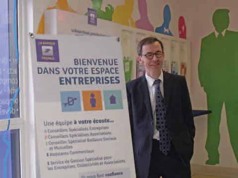 Philippe Bajou, membre du directoire de la Banque postale, a inauguré ce nouvel espace ouvert cinq jours sur sept.
