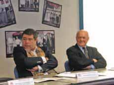 Philippe Debernardini-Catrix, vice-président de la Maison flamande, et Roger Duhomez, président du conseil de surveillance.