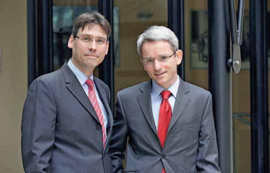 """Xavier Bouché et Xavier Guédé, respectivement président de la première commission """"Une volonté"""" et rapporteur."""