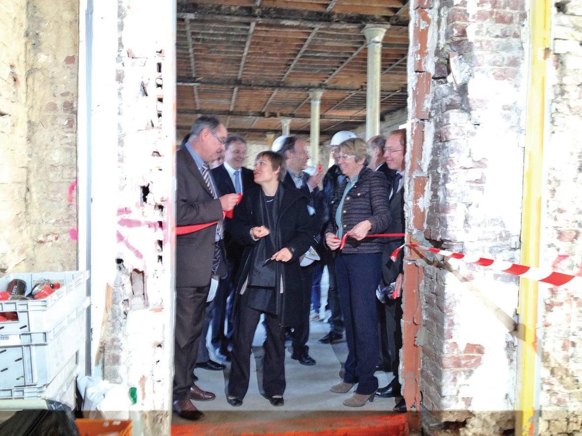 L'ensemble des partenaires du projet étaient présents pour le lancement du chantier.