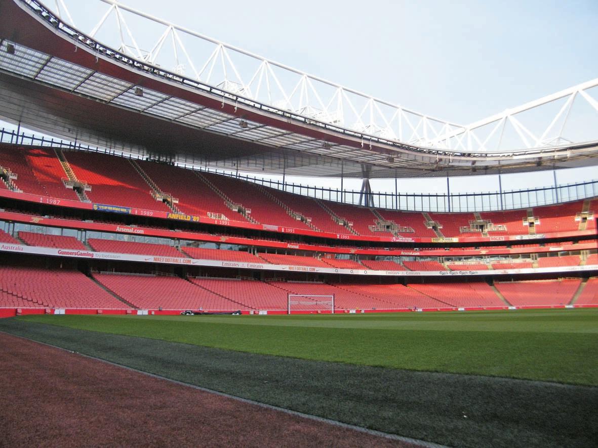Le stade d'Arsenal à Londres et ses 60 000 places assises, au siège rembourré.