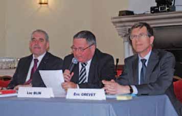 Le président de la caisse Nord, Pierre-Georges Dachicourt, celui de la société centrale, Luc Blin, et le directeur général, Eric Grevet (de gauche à droite).