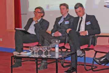 Le journaliste Jacques Legros (TF1 et vigneetvin.tv), le graphiste designer Thomas Nedellec (Ned Company) et l'étudiant en communication Hubert Baldetti (de gauche à droite).