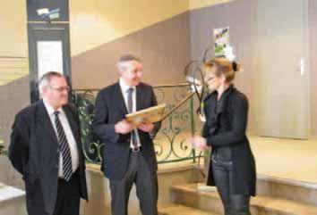 Philippe Schoonaert, dirigeant de l'entreprise éponyme, lors de la remise de la certification Afnor, à Saint-Omer le 10 avril dernier.
