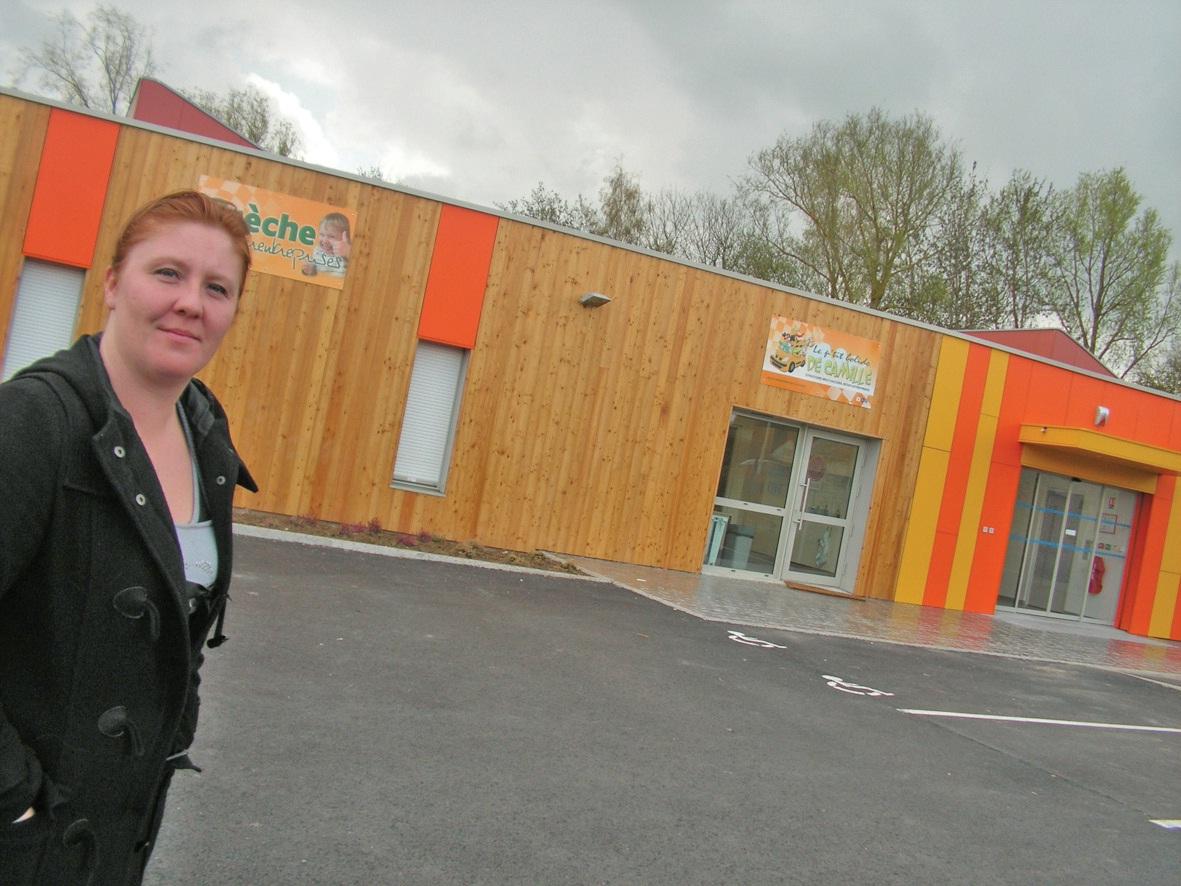 Maud Le Pen, chargée des relations avec les entreprises. La crèche s'est ouverte le 19 mars.