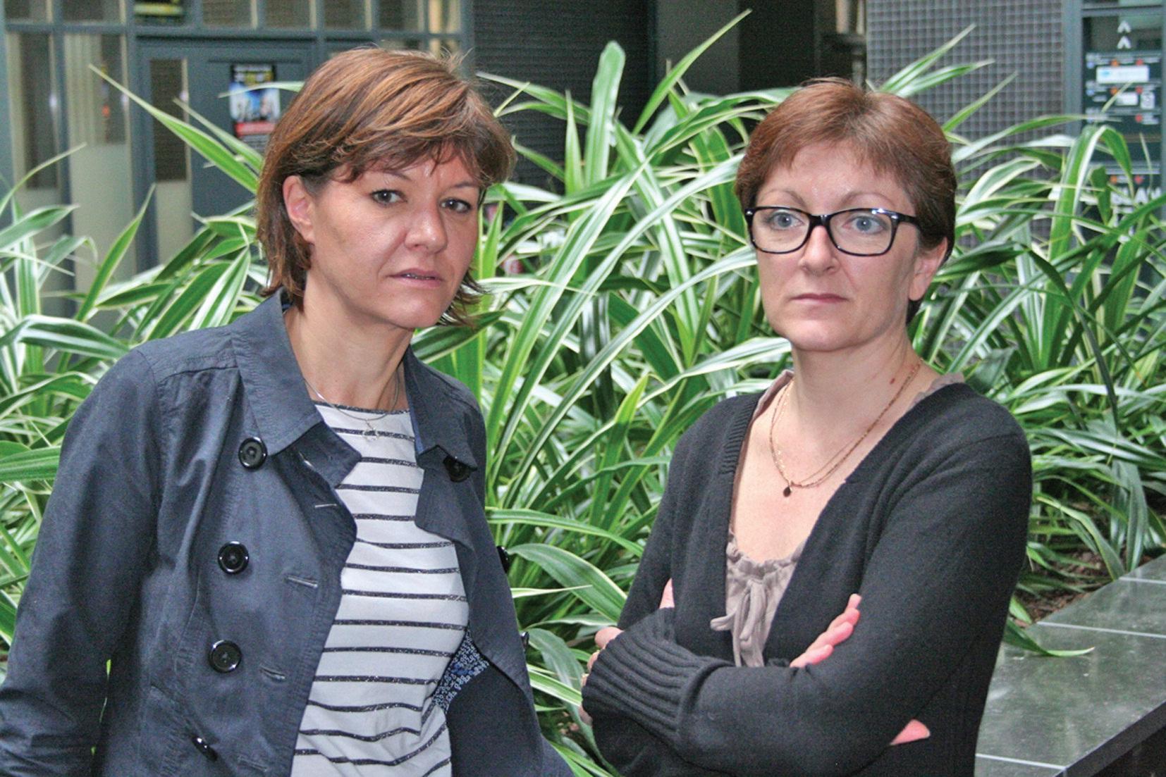 Aurélie Duquennoy et Karine Lafontaine.