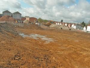 Le centre-ville, près de la gare, est un grand chantier.