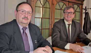 Bernard Coget (à gauche) et Eric Lhôte (responsable communication de l'AA) oeuvrent au sein de l'Association des auditeurs.