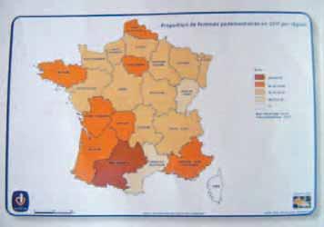 Proportion de femmes parlementaires en 2011 par région.