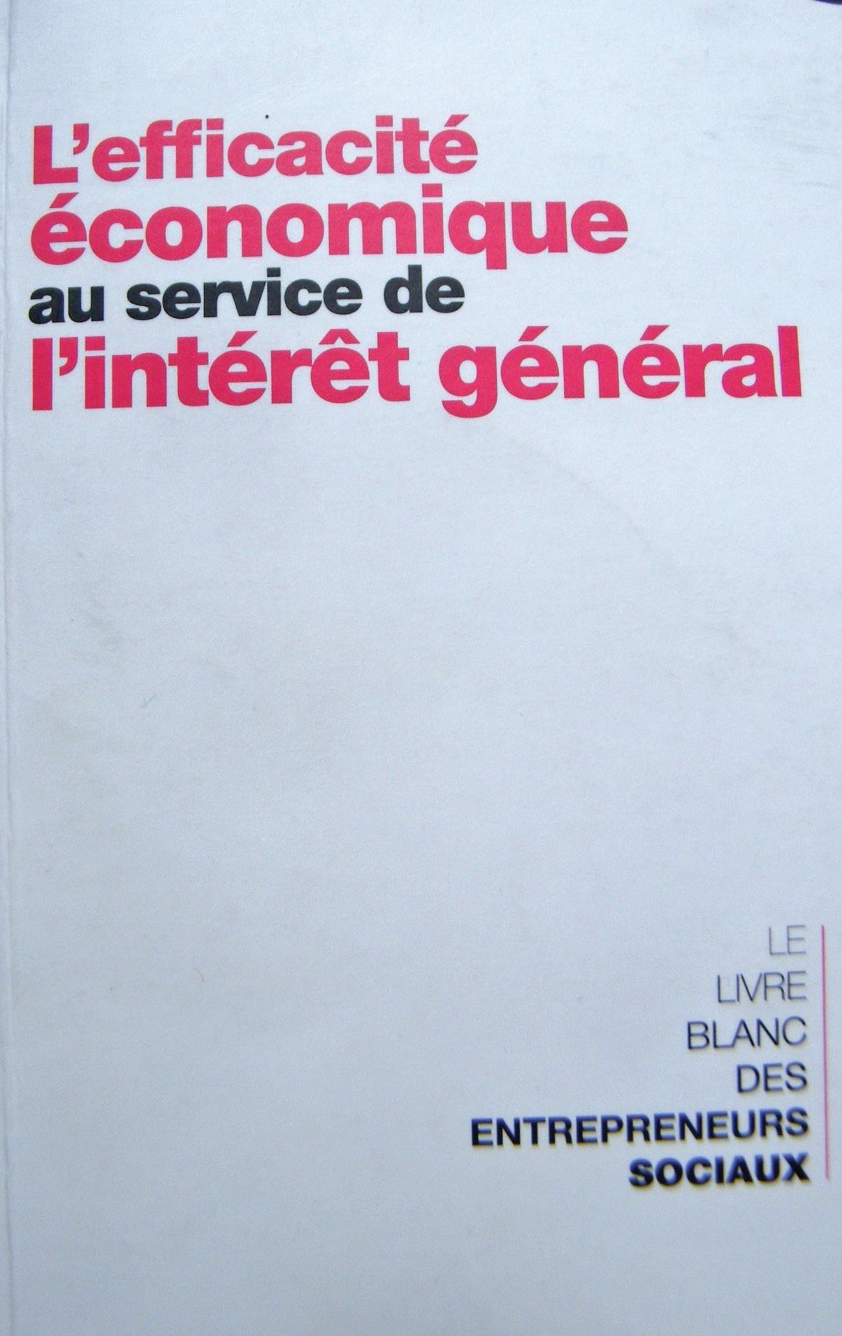 Le livre blanc des Entrepreneurs sociaux.