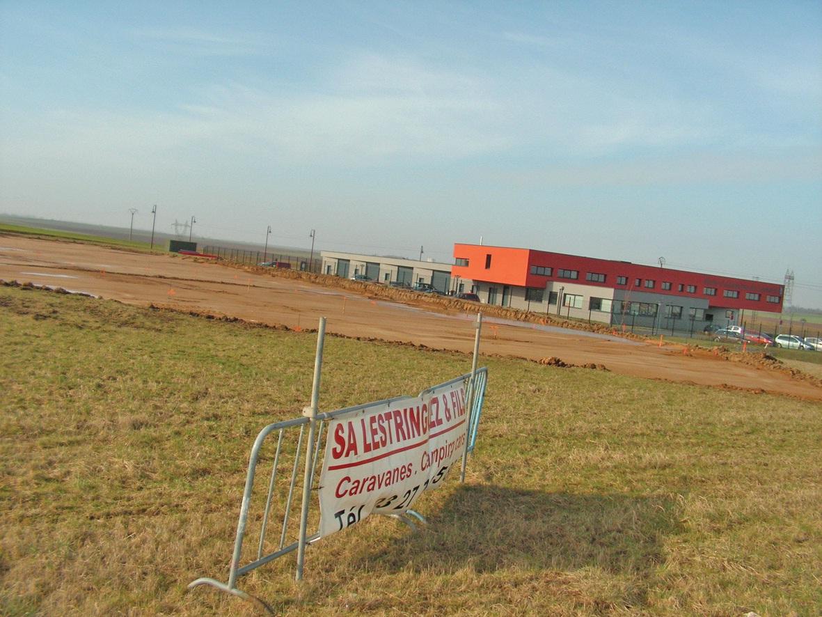Les travaux de terrassement, juste à côté de la ruche départementale d'entreprises, ont commencé début mars. L'objectif est d'ouvrir le nouveau site dédié aux camping-cars en septembre.