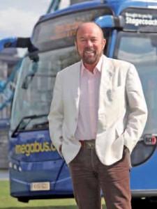 Directeur général du groupe Stagecoach, Brian Souter souhaite bousculer les tarifs du marché européen des voyages en autocar.