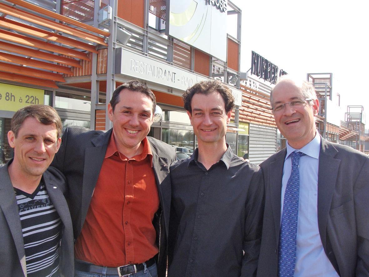 De gauche à droite, Michel Meunier, Didier Dumont, Franck D'Halluin et Xavier Ibled.