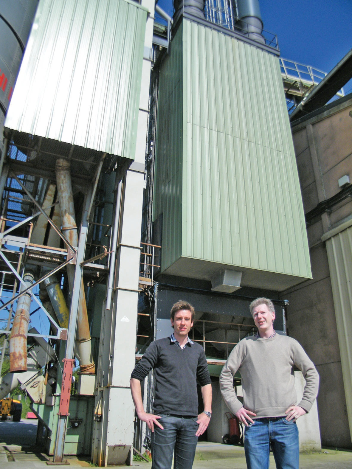 Thierry et Cyril Duriez, associés d'Arques céréales.