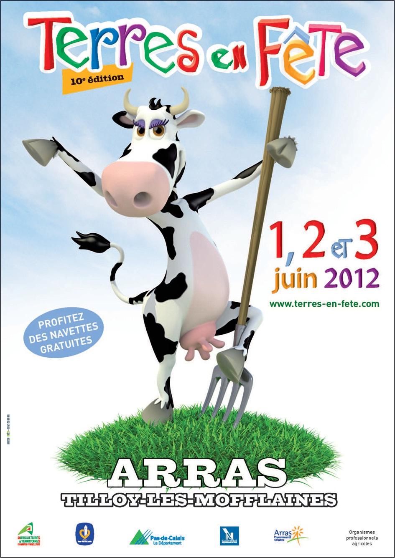 Comme toujours, le visuel est sympathique pour une manifestation présentée comme le 3e salon agricole français.