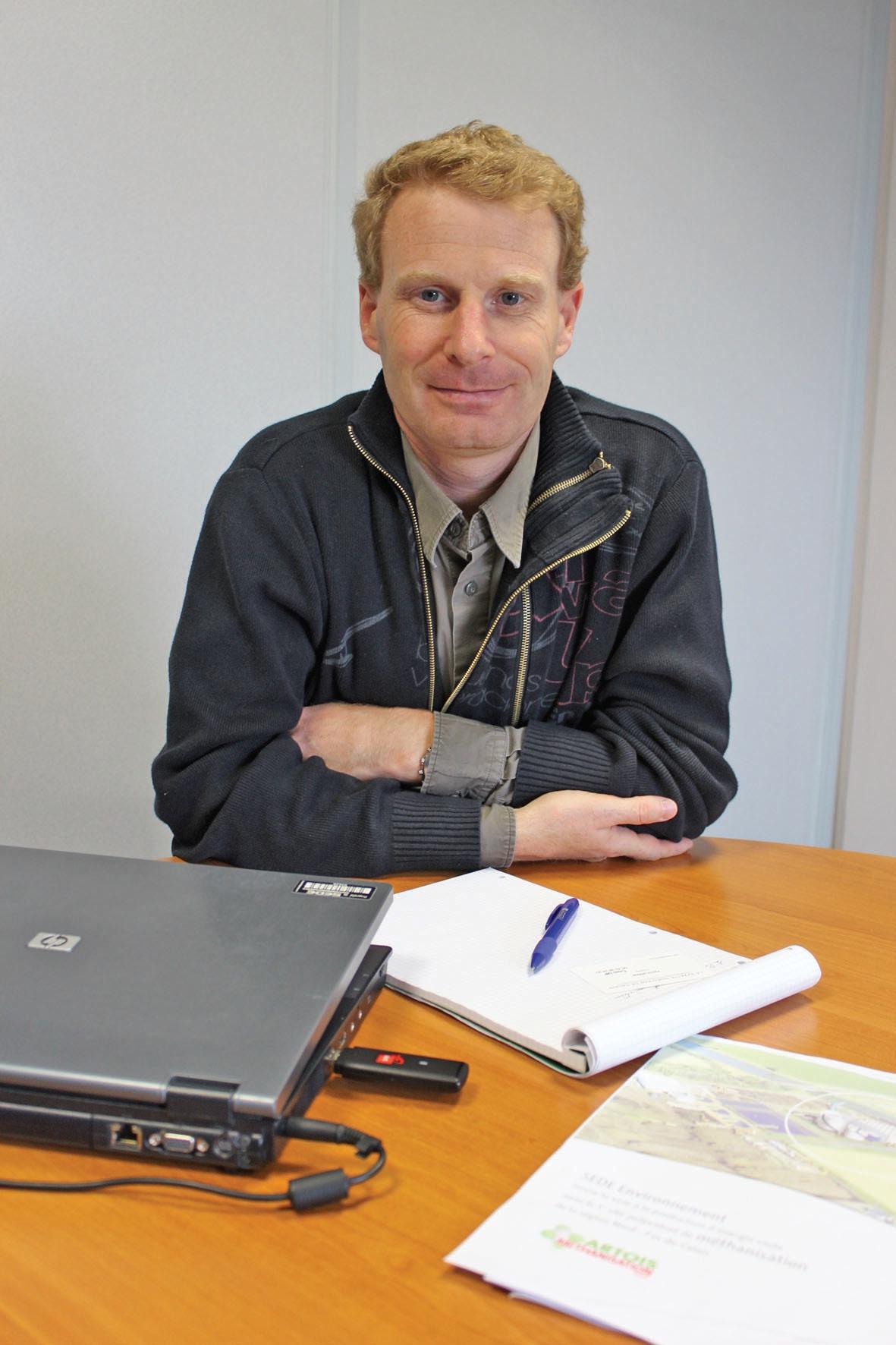 Olivier Wdowiak veille à maîtriser le développement de l'usine et du marché.