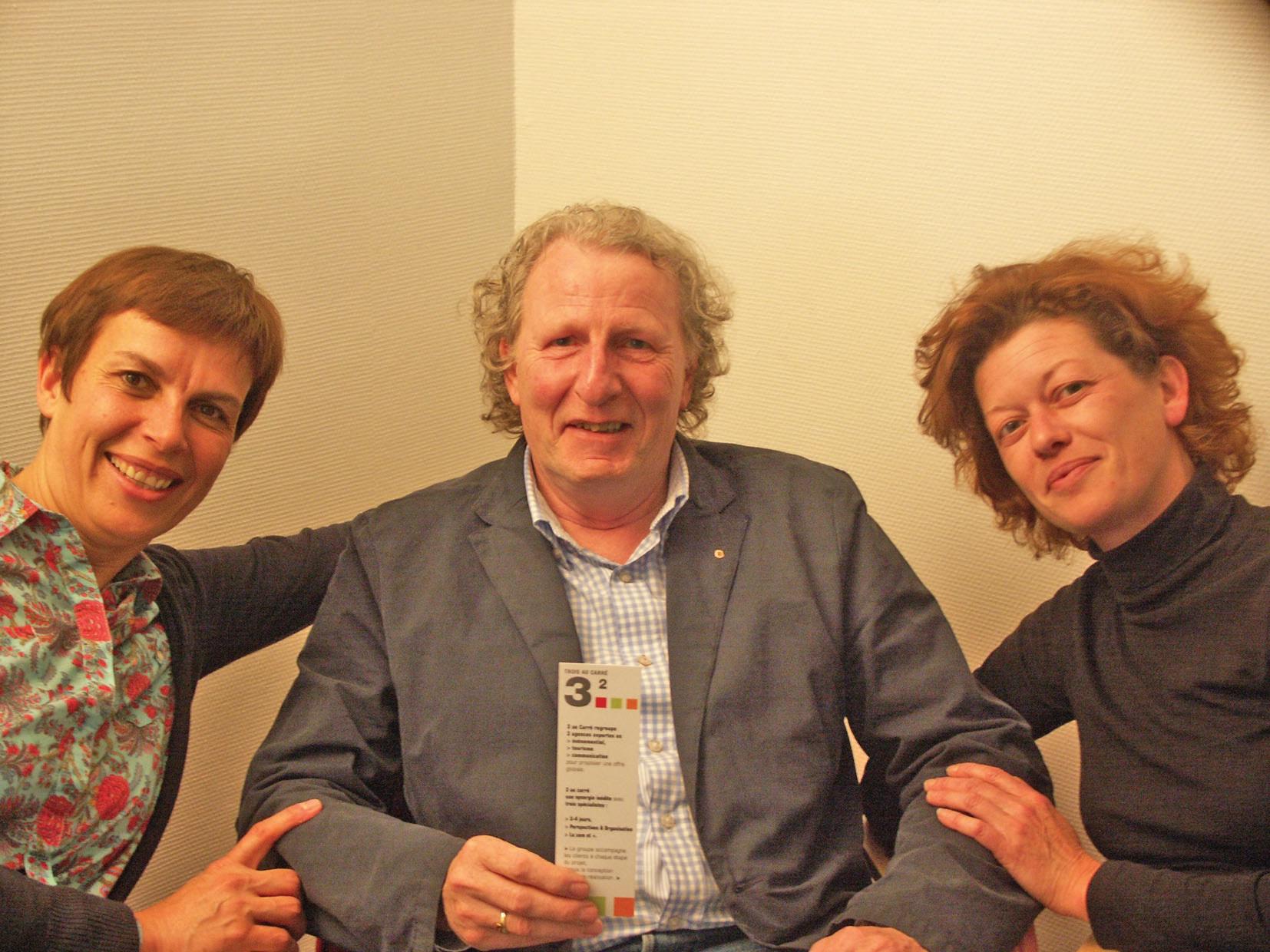 """Les """"3 au Carré"""" (Guillemette Flipo, Philippe Florin et Sophie Lefebvre) sont exponentiels ensemble et travaillent de façon… carrée."""