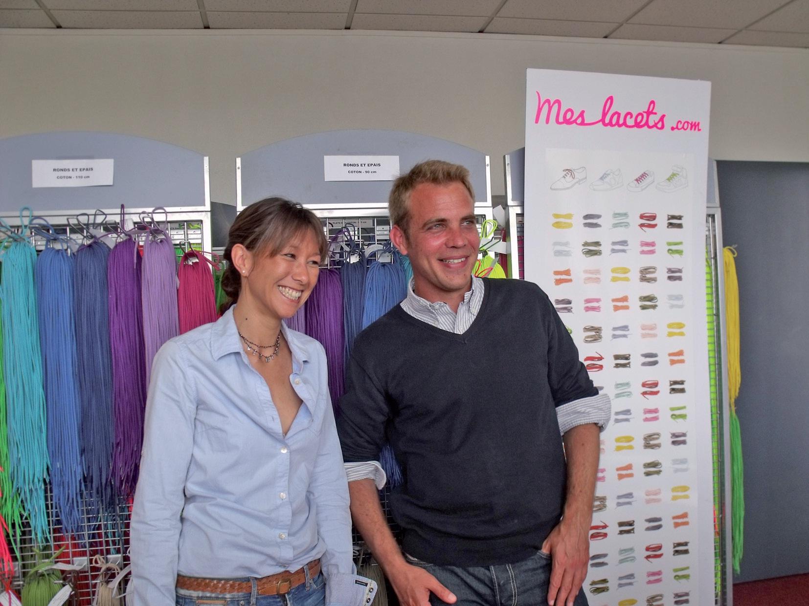 Caroline Chia, directrice de Meslacets.com, et Sylvain Bayet, directeur associé d'Open Resources.