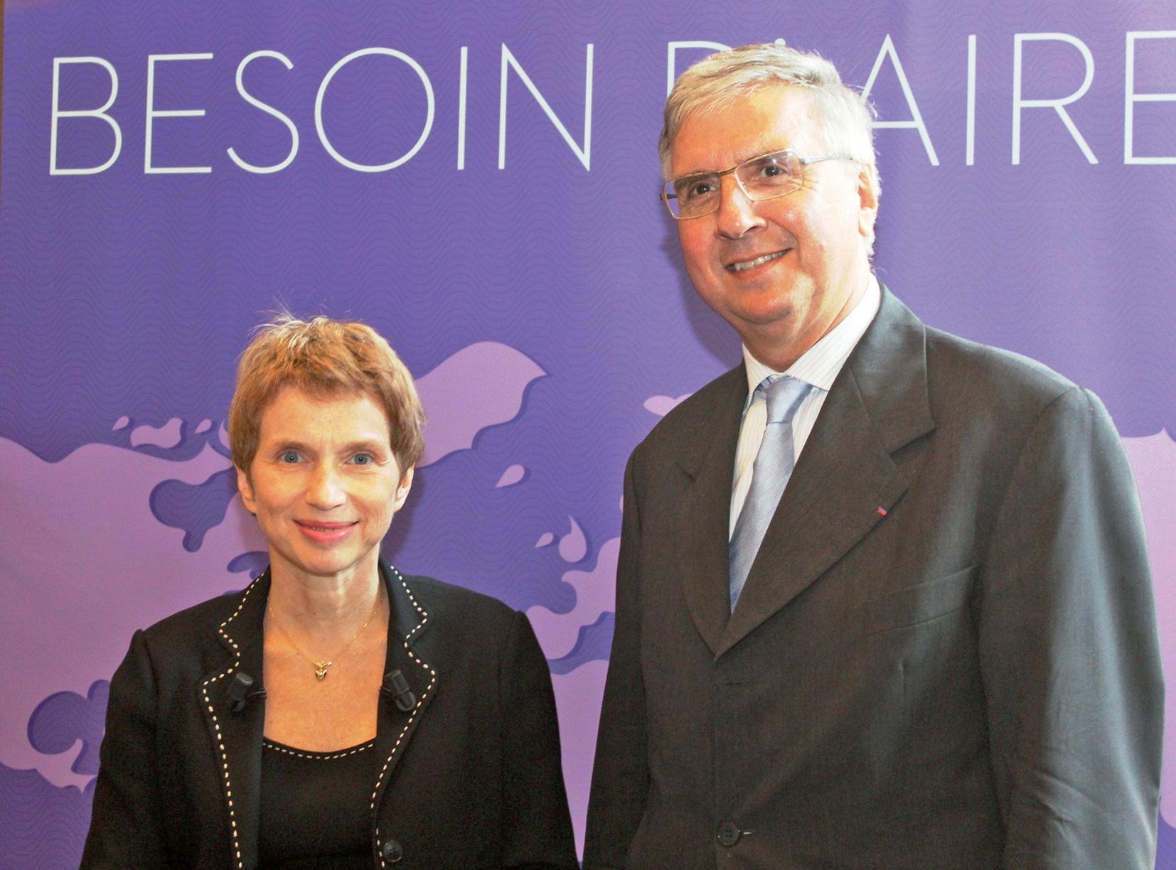 Laurence Parisot a été accueillie par Jean-Pierre Guillon, président du MEDEF régional.