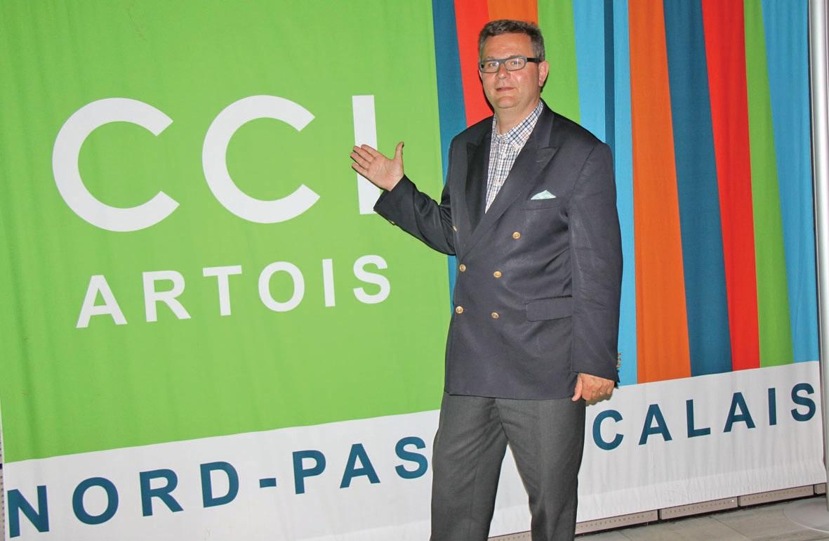 """Thierry Lowys est responsable du service """"mise en réseau des entreprises"""" au sein de la CCI Artois."""