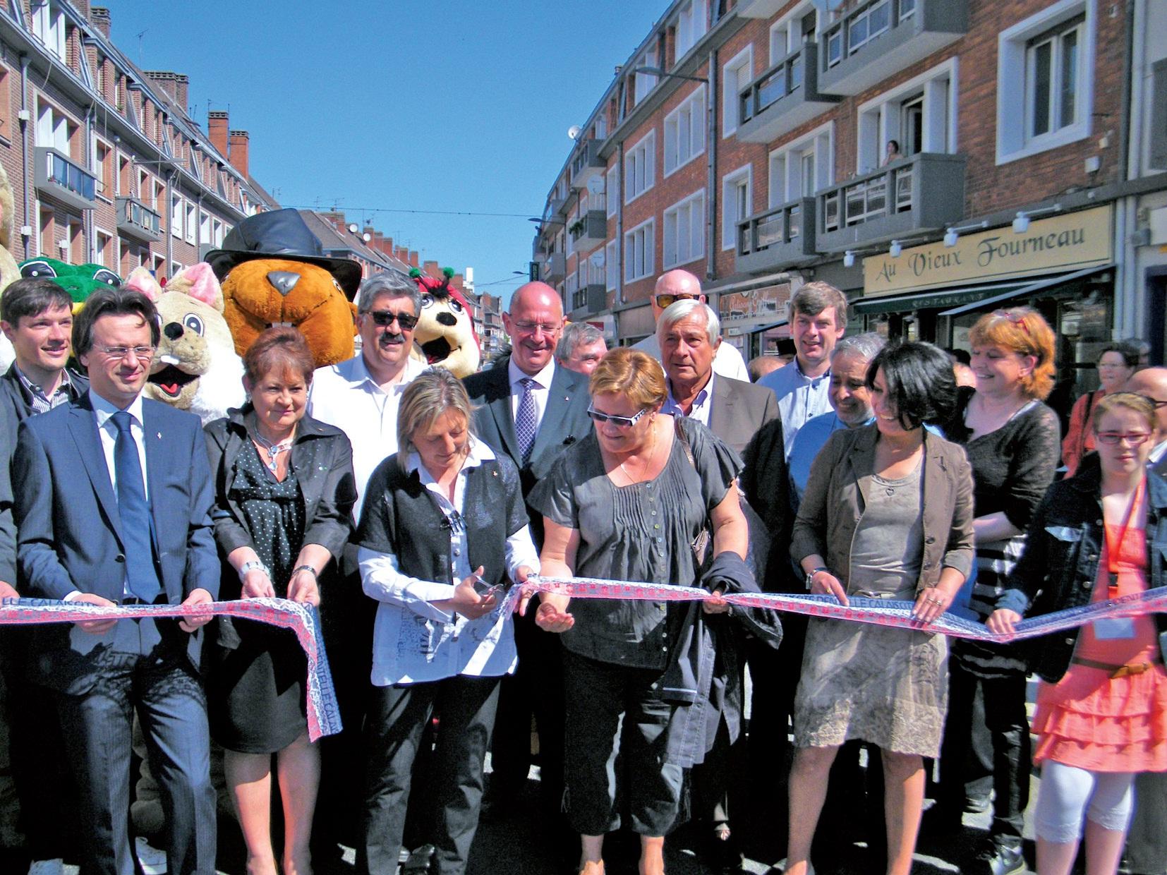 Inauguration du premier tronçon de la rue Royale.