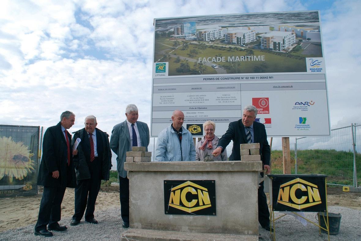 La première pierre a été posée par le ministre Frédéric Cuvillier le 4 juin. Le chantier devrait durer 18 mois.