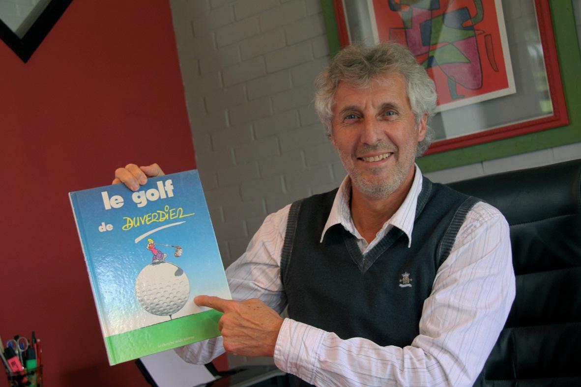 Jacques Tournant s'intéresse également aux BD, surtout lorsqu'elles concernent le sport et plus particulièrement le golf.