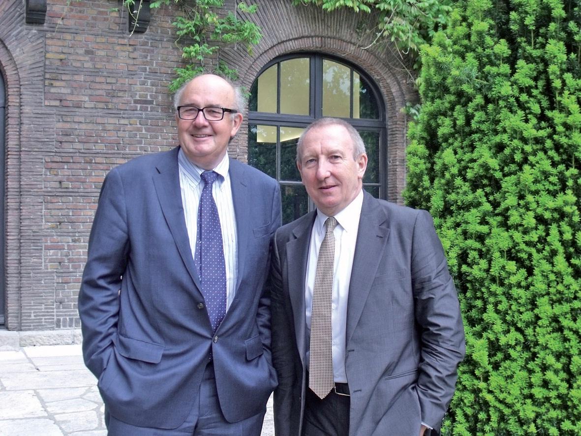 Olivier Oger, directeur général du groupe Edhec, et Richard Simonin, président