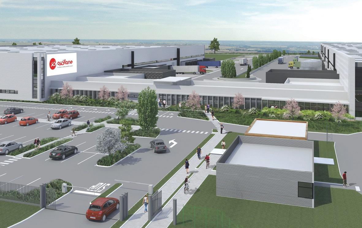 Zones de stockage, bureaux et locaux techniques, la plate-forme aux normes haute qualité environnementale, construite par Argan, s'intégrera parfaitement à son environnement.