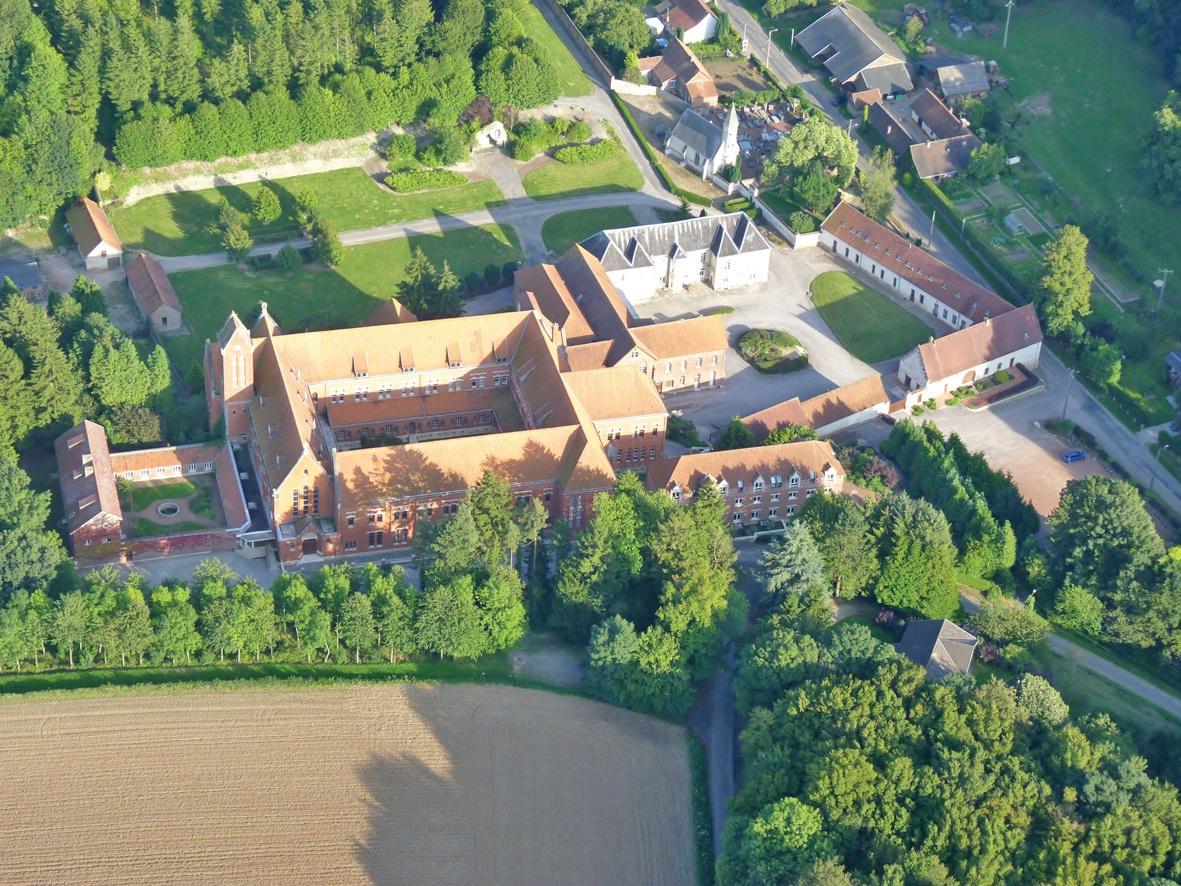 L'abbaye de Belval s'étend sur 12 hectares.