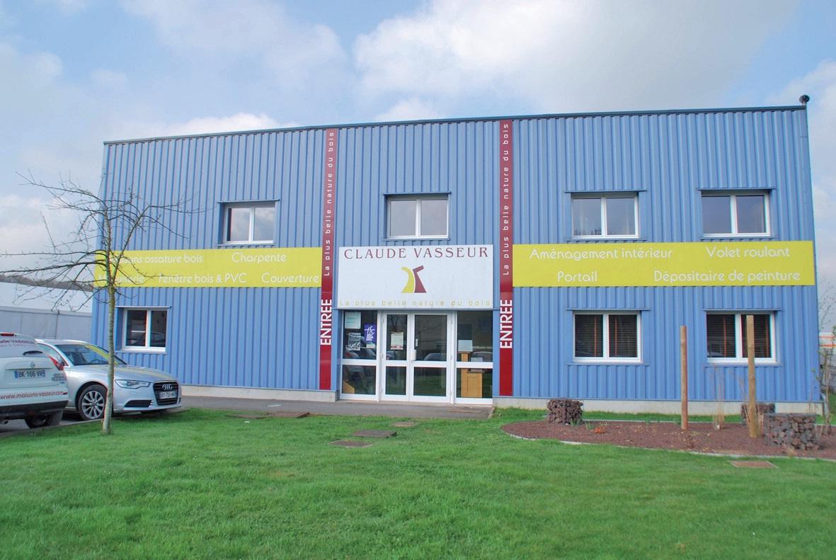 Les bureaux et ateliers des Maisons Vasseur sont regroupés à Le Plouy (Colembert).