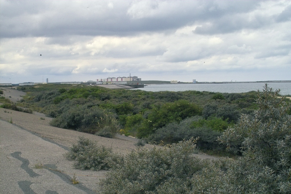 Le terminal méthanier est situé à 4 km de la centrale de Gravelines, à 1 km du terminal ferry et non loin de l'endroit où devrait être creusé le bassin de la Baltique.